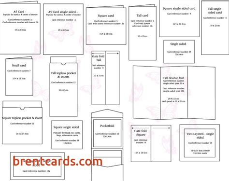 Place Card Size Template by Greeting Card Sizes Chart Alanmalavoltilaw