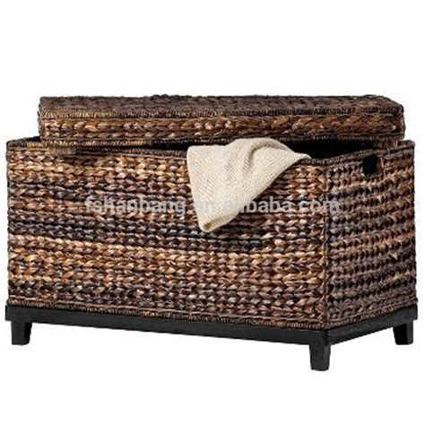 rattan trunk coffee table rattan seagrass water hyacinth wicker storage