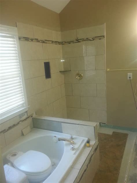 Retile Bathroom Shower by Master Bath Retile