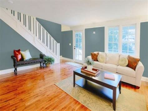 gray paint color for living room with wood floor for the