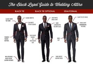 proper attire for black tie optional wedding how to the right suit for any wedding infographic