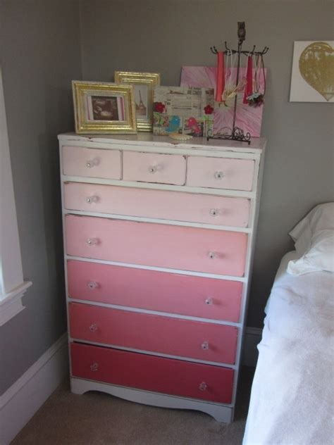 shades of blue ombre chest of drawers dresser changing ombre dresser would be so cute for a nursery shades of