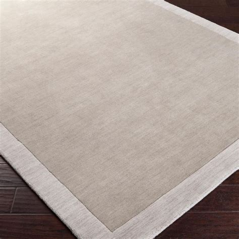 City Hues Solid Bordered Rug Solid Color Rugs
