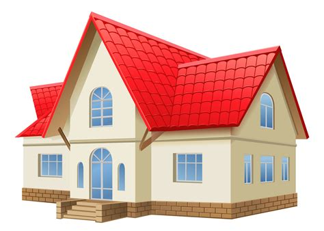 vector for free use 3d house icon 3d realistic 2 stored house vector download
