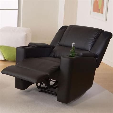 recliner with cup holder and speakers x rocker deluxe gaming and home theater recliner it