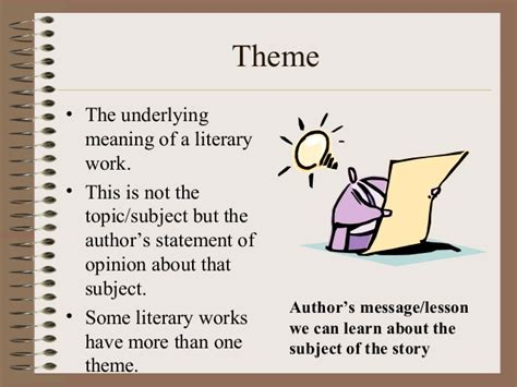 meaning in themes literary terms review