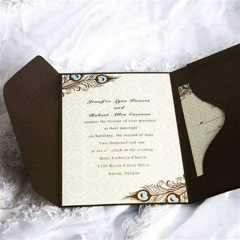 where to get cheap wedding invitations cheap peacock wedding invitations at