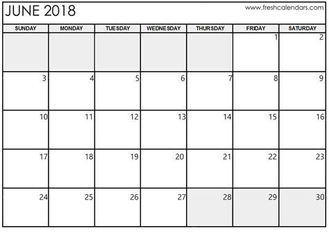 25 free printable calendars june 2018 calendar printable happyeasterfrom com