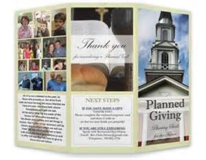 planned giving brochures templates peer calendar detail