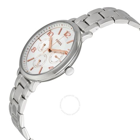 Fossil Silver Stainless Steel fossil jacqueline silver tone stainless steel es3738 jacqueline fossil