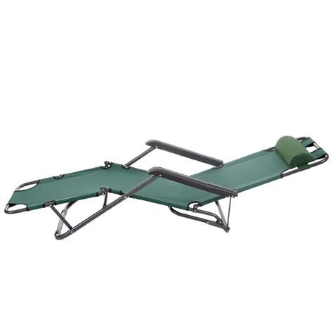 chaise bain de soleil transat bain de soleil chaise longue jardin pliable vert