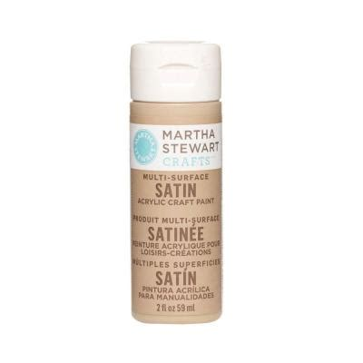 martha stewart crafts 2 oz acorn multi surface satin acrylic craft paint 32072 the home depot