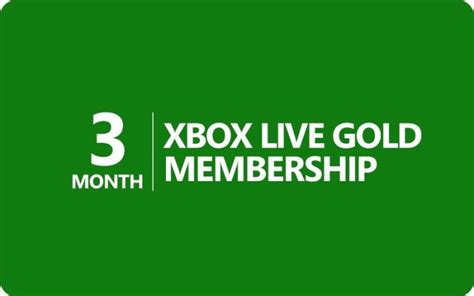 Xbox Live Membership Gift Card - xbox live gold membership for 3 months or 20 euro xbox gift card for sale in