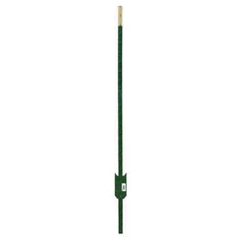 hdx 5 ft heavy duty steel green painted t post 901174hd