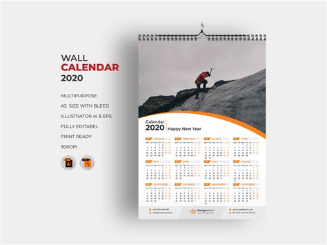 page wall calendar   mh yousuf  dribbble