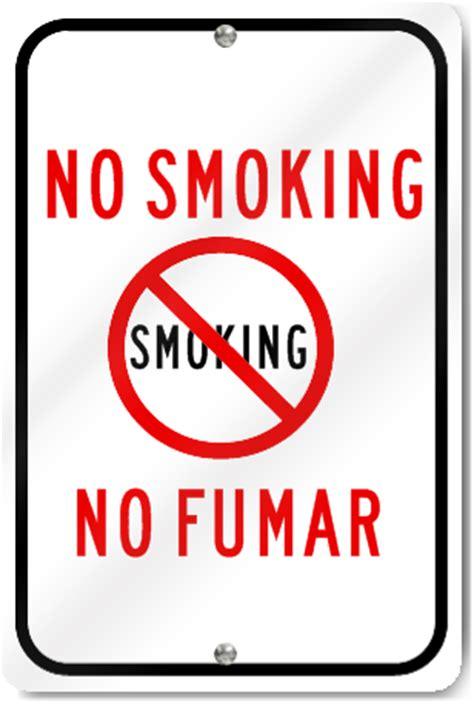 no smoking sign english and spanish no smoking spanish english sign signstoyou com
