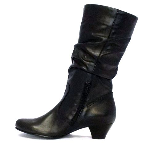 black boots gabor boots slouch mid boot in black mozimo