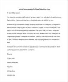 6 sample recommendation letter for a friend 8 free