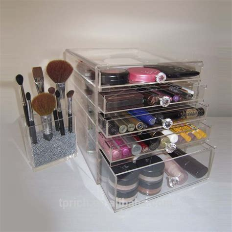 Tempat Kosmetik Lipstick Shelf Acrylic clear functional wholesale acrylic makeup organizer with drawers buy acrylic makeup organizer