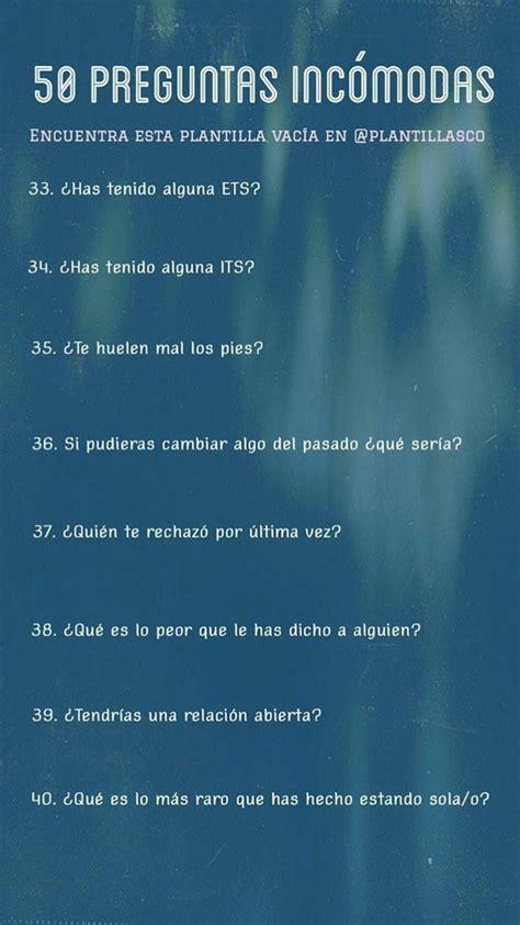 preguntas graciosas incomodas 50 preguntas inc 243 modas i n s t a g r a m pinterest