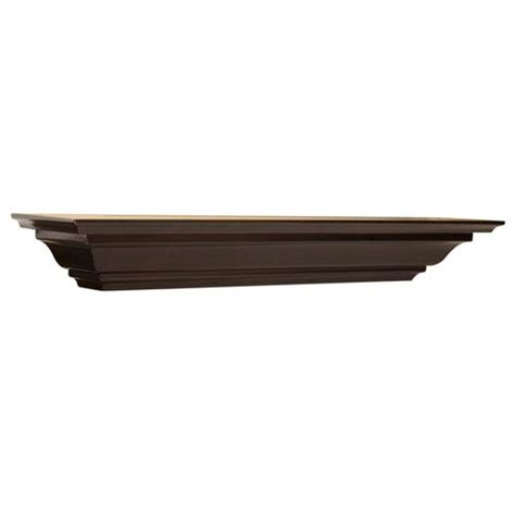 espresso crown molding shelf 5 x 60 x 4 inches woodland