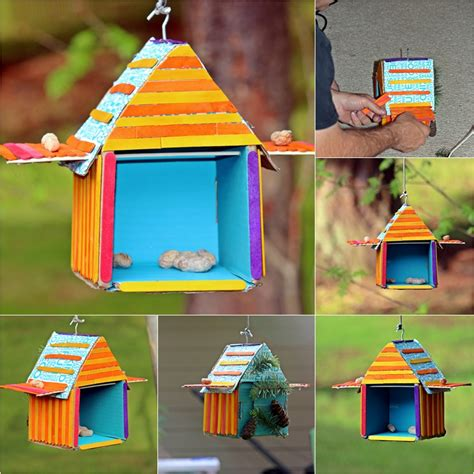 building crafts for diy recycled bird house beary crafty diy