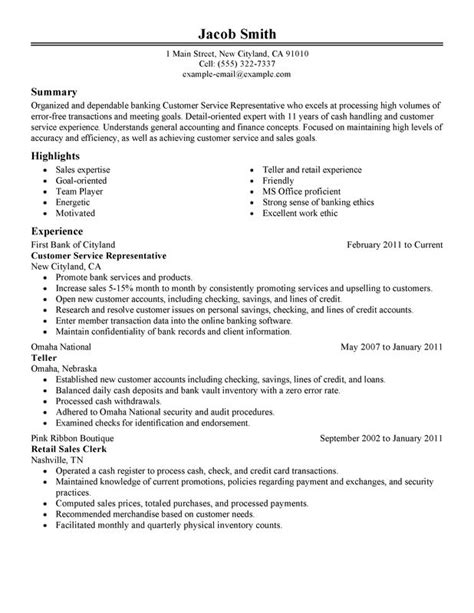 resume exles for customer service customer service representative resume sle my