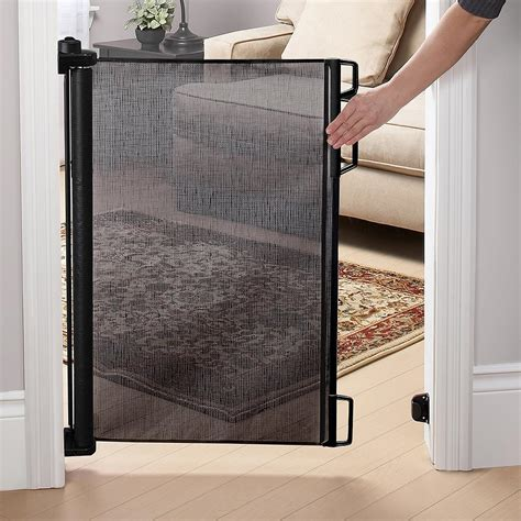 dog gates for house retractable small retractable deck gate doherty house retractable deck gate which is better