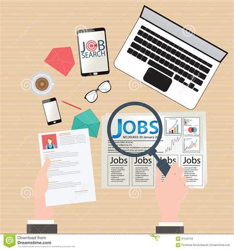 search designs job search design stock vector image 61540753