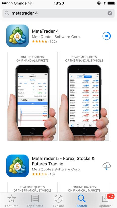 mt4 app how to install metatrader 4 on iphone octafx guide