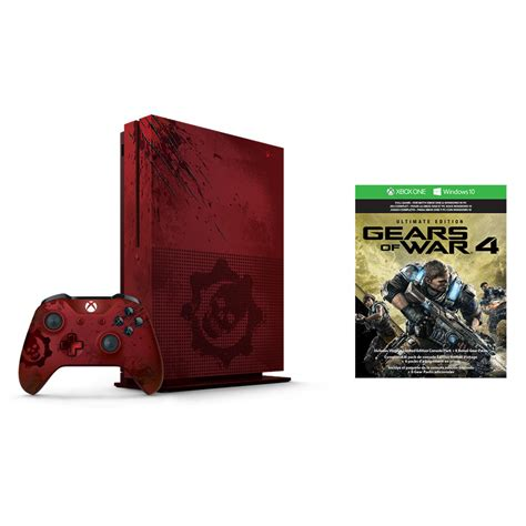 Premium Xbox One S Gear Of Wars 2tb Aif612 xbox one s 2tb gears of war limited edition console the