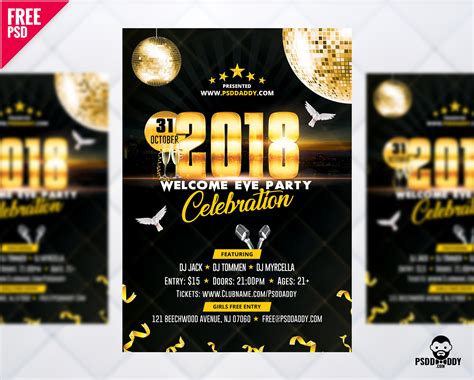 new year flyer free new year 2018 flyer free psd uxfree