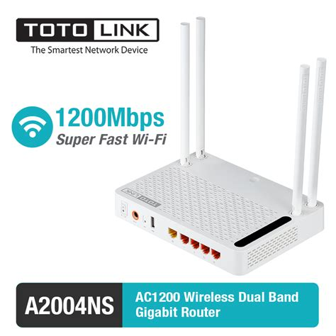 Totolink A2004ns Wireless Router Ac Dual Band Putih totolink a2004ns 11 ac 1200mbps wireless dual band gigabit router with multi functional usb 2 0