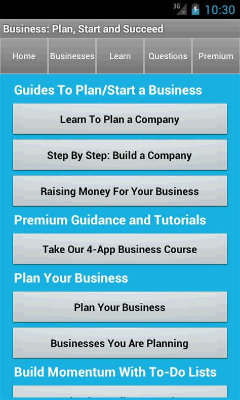 business plan start startup android apps on play