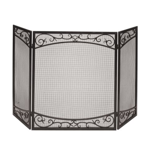 panacea fireplace screen panacea scroll design fireplace screen 15917