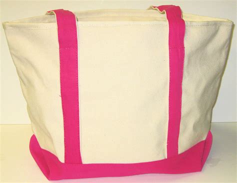 heavy duty canvas boat bags heavy duty natural canvas boat bag navy blue or pink trim