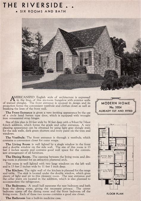 1930 house plans sears riverside english cottage style 1930s kit homes small house plan