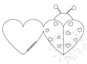 Pages Card Templates Ladybird Valentine Colouring Pages