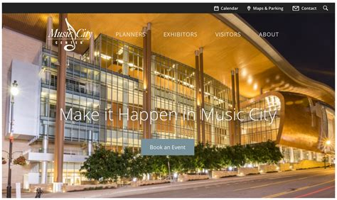 music city center nashville tn lighting design by cm louisville based web design company completes website