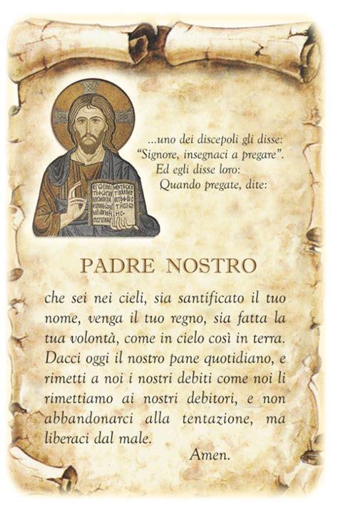 ave testo italiano padre nostro in italiano greco leggoerifletto