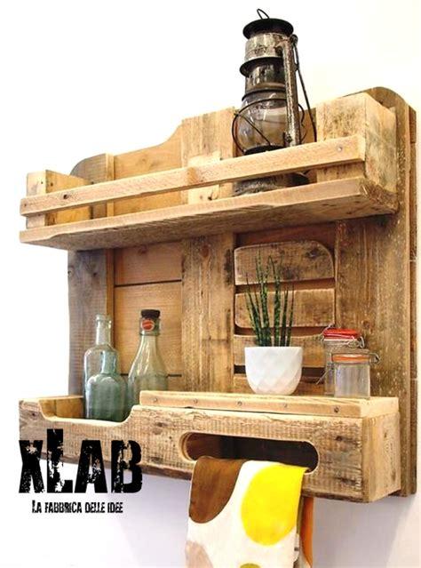 mensola da cucina mensola pallet da cucina eco design e riutilizzo