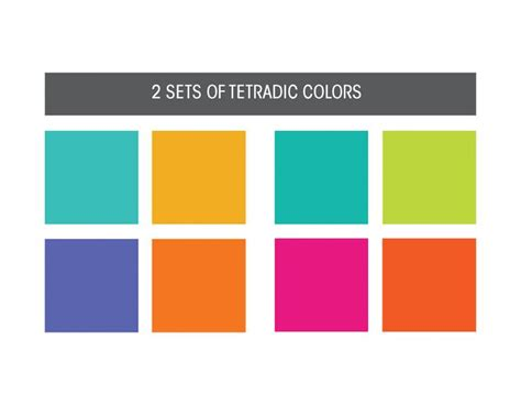 combination of colors 18 best tetradic colour schemes images on pinterest