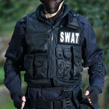 Vest Rompi Airsoft Swat swat airsoft tactical combat vest vest with patch black in vests from