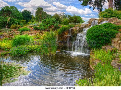 rock garden waterfall kew gardens stock photos kew gardens stock