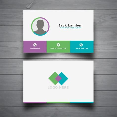 modern business card templates free modern business card template vector free