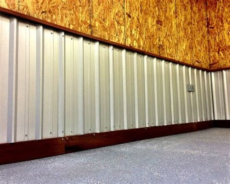 Metal Wainscoting Ideas by Corrugated Metal Roofing Used As Wainscoting With Ipe Base