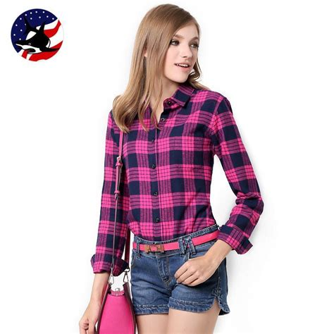 Plaid Longline Wood Button Shirt galeoid cotton s blouses sanded sleeve