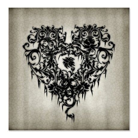 gothic heart tattoo designs classic design home