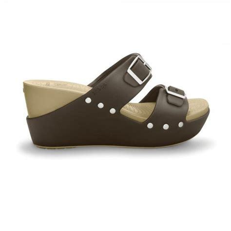 Wedges Mr90 Crocodile 64 crocs cobbler wedge buckle espresso chai fashion wedge with supreme comfort crocs from jelly