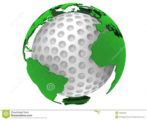 map world golf golf with world map stock photography image 19392592